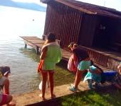 Zum Baden in den See