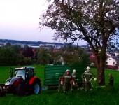 Traktor mit Seilwinde geborgen