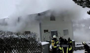 Brand eines Wohnhauses in Schörfling