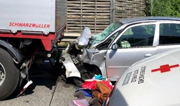 Wieder schwerer Unfall auf der A1