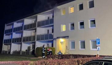 Brand in einem Wohnblock
